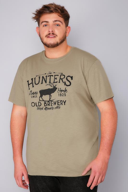 "BadRhino Khaki ""Hunter"" T-Shirt - TALL"