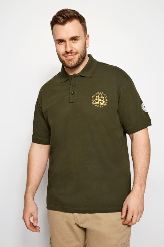 Polo Shirts BadRhino Khaki Logo Polo Shirt 201004