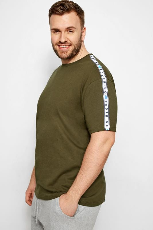 BadRhino Khaki Taped T-Shirt