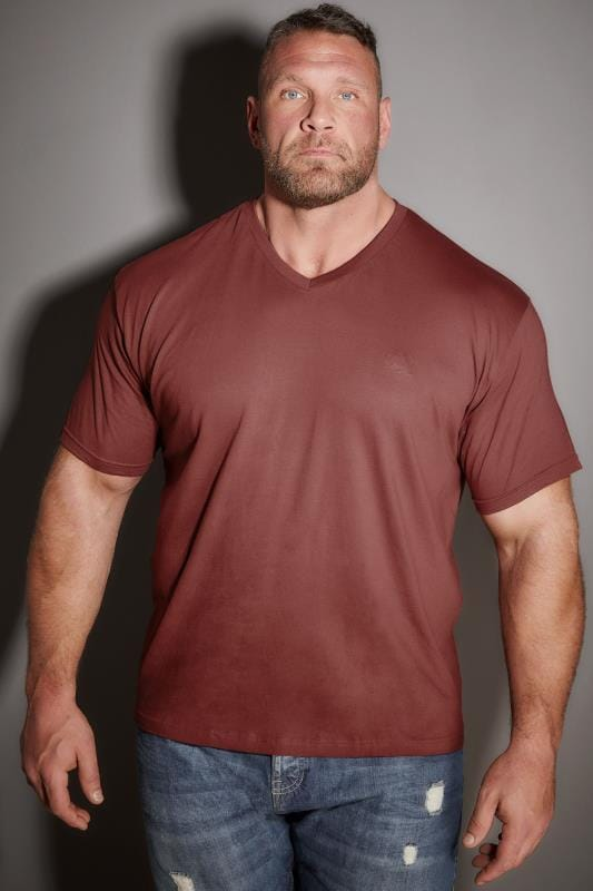 T-Shirts BadRhino Light Brown V-Neck Basic T-Shirt 200220
