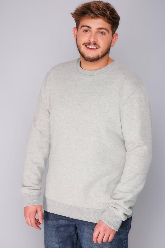 Sweatshirts BadRhino Light Grey Marl Sweatshirt 110116