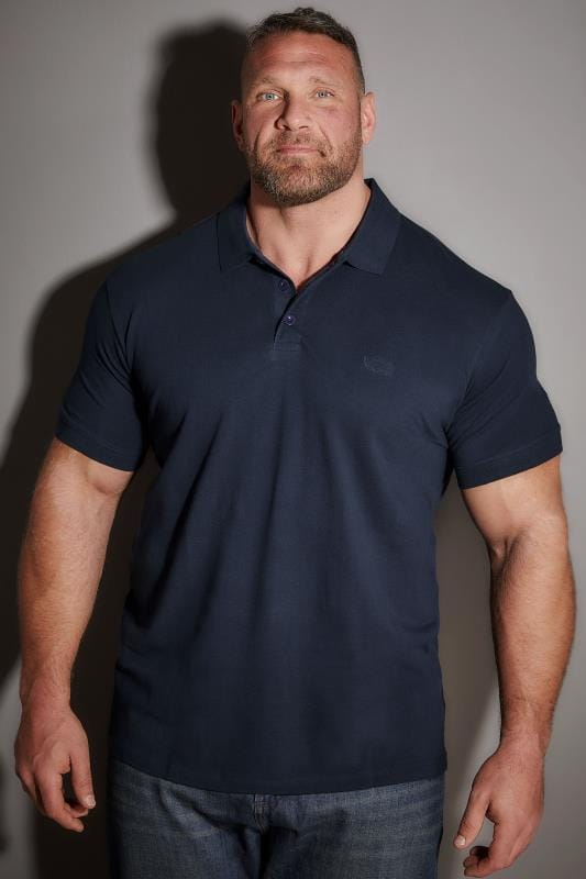 Polo Shirts BadRhino Navy Basic Polo Shirt 200084