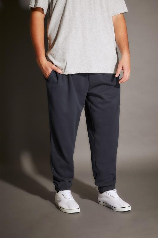 BadRhino Navy Basic Sweat Joggers With Pockets - TALL