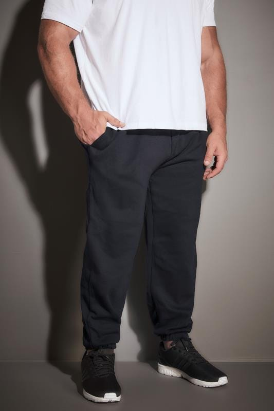 Joggers BadRhino Navy Basic Sweat Joggers With Pockets 200211