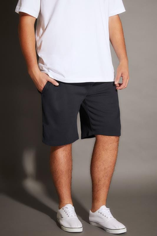 Jersey Shorts BadRhino Navy Basic Sweat Shorts With Pockets 200216