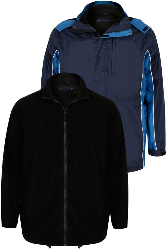 BadRhino Navy & Blue 3 in 1 Water Resistant Jacket