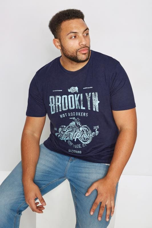 T-Shirts BadRhino Navy 'Brooklyn' T-Shirt 200845