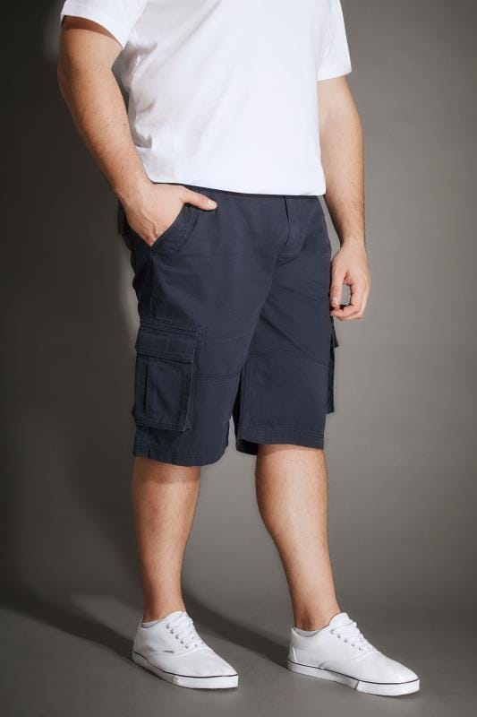 Cargo Shorts BadRhino Navy Cargo Shorts With Canvas Belt 200501