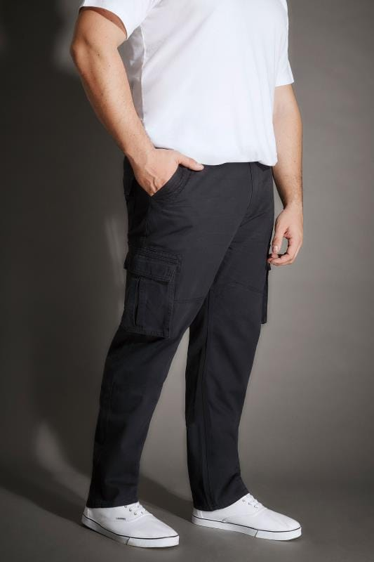 Cargo Trousers BadRhino Navy Cargo Trousers With Utility Pockets & Canvas Belt 200497