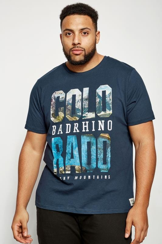 T-Shirts BadRhino Navy 'Colorado' T-Shirt 200849