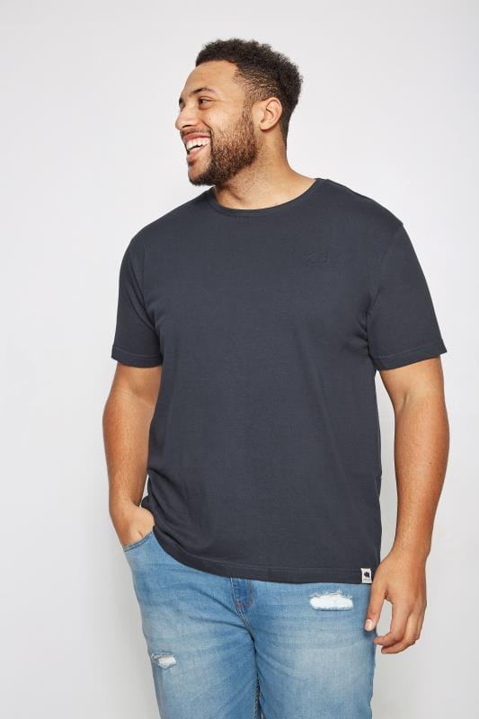 T-Shirts BadRhino Navy Crew Neck Basic T-Shirt 200276