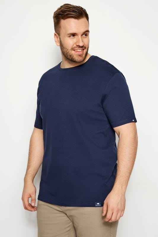 T-Shirts BadRhino Navy Crew Neck T-Shirt 200991