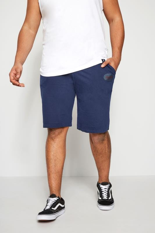 Jogger Shorts BadRhino Navy Jersey Shorts With Pockets & Logo Detail 200162