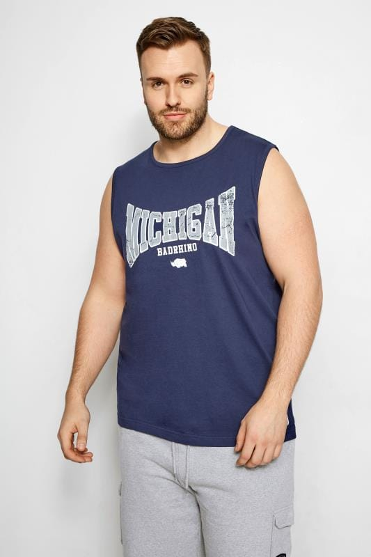 Vests BadRhino Navy 'Michigan' Muscle Vest 200993