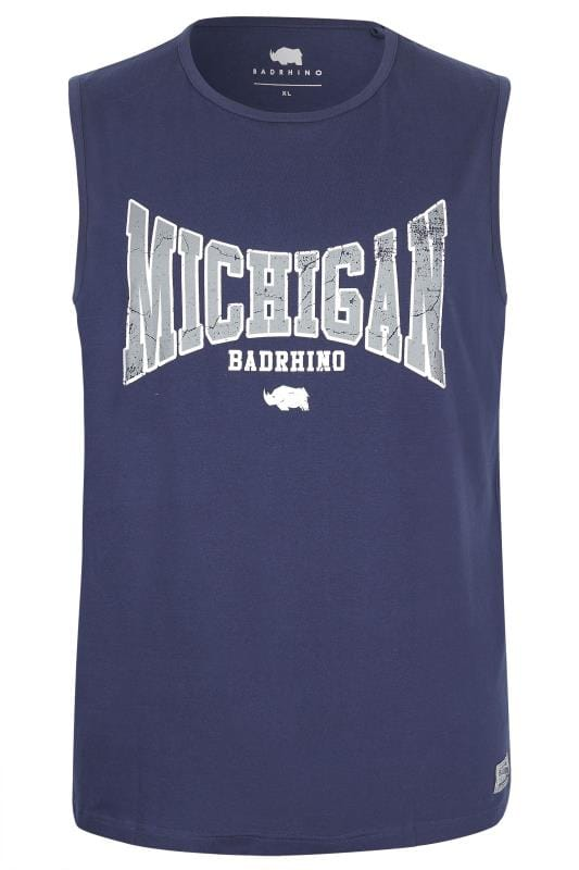 BadRhino Navy 'Michigan' Muscle Vest