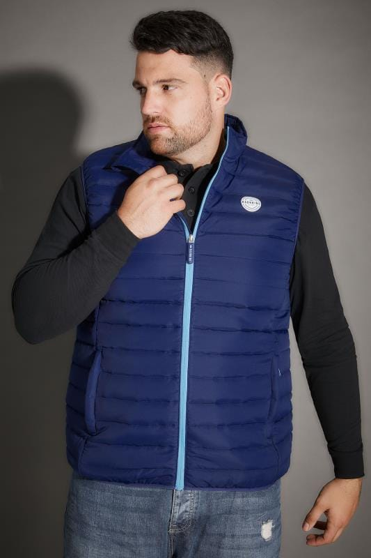Gilets BadRhino Navy Padded Gilet With Shower Resistant Finish 200321