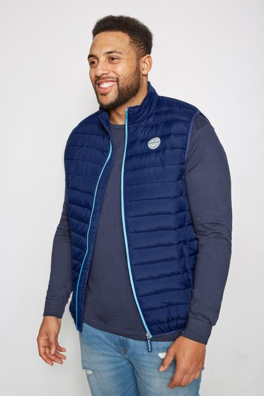 BadRhino Navy Padded Gilet With Shower Resistant Finish
