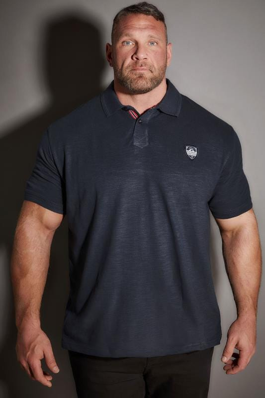 Polo Shirts BadRhino Navy Polo Shirt With Chest Badge 200110