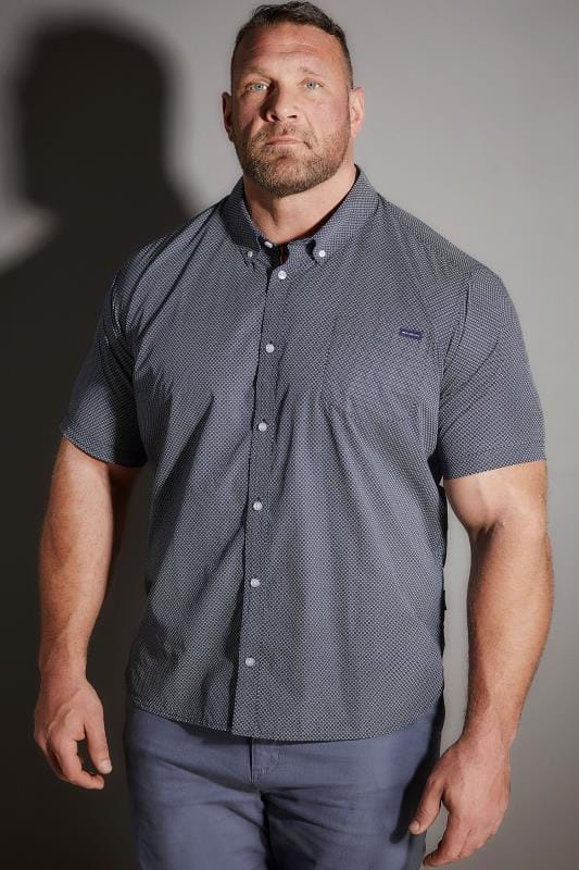 Casual Shirts BadRhino Navy Printed Shirt 200620