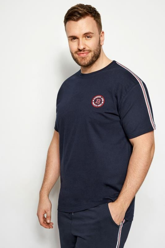 BadRhino Navy Sports Tape T-Shirt