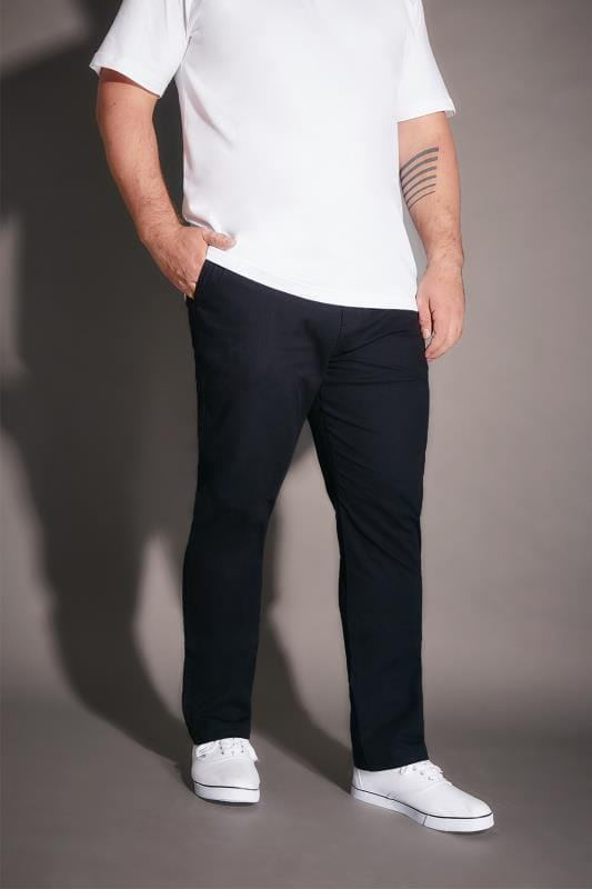 BadRhino Navy Stretch Chinos - TALL