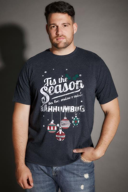 "BadRhino Navy ""Tis The Season To Bah Humbug"" Christmas T-Shirt"