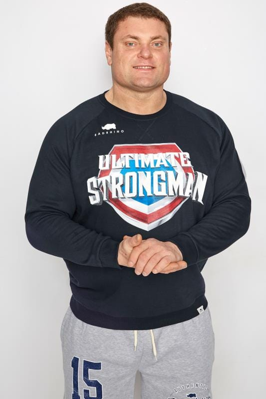 Sweatshirts BadRhino Navy 'Ultimate Strongman' Sweatshirt 200814