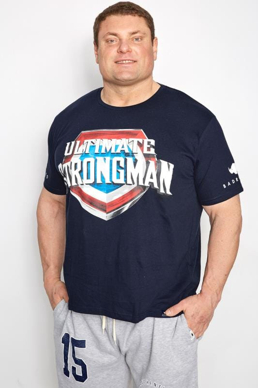 T-Shirts BadRhino Navy 'Ultimate Strongman' T-Shirt 200802
