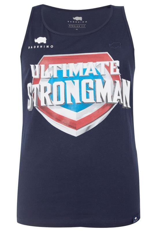 Vests BadRhino Navy 'Ultimate Strongman' Vest Top 200796