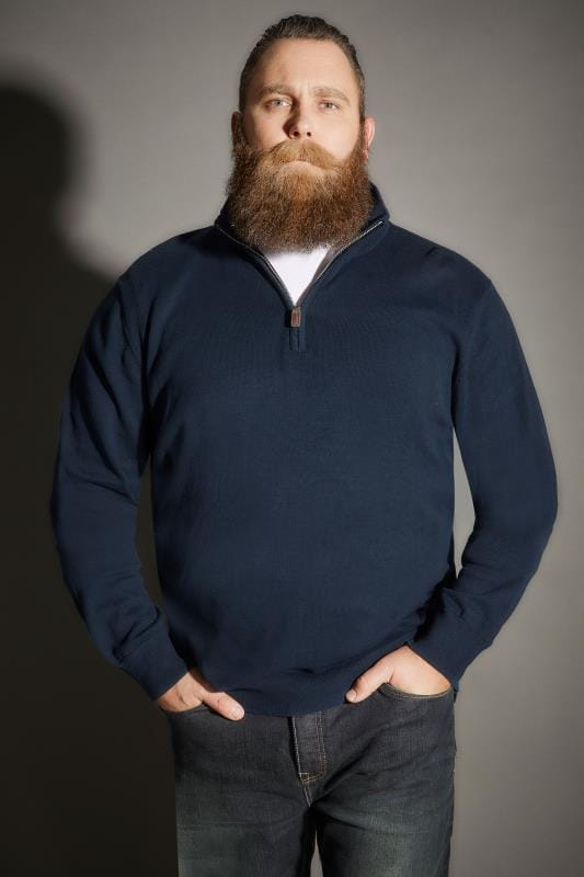 Navy Zip Front Jumper