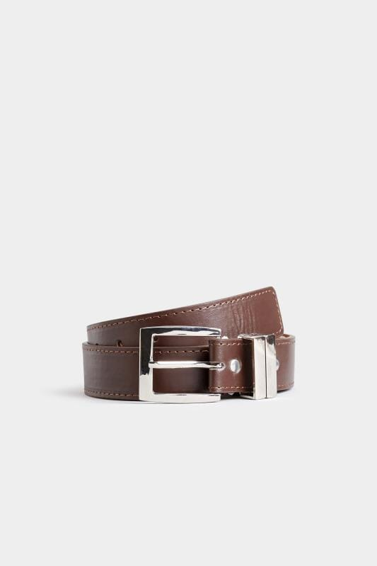 BadRhino Plain Brown Bonded Leather Belt