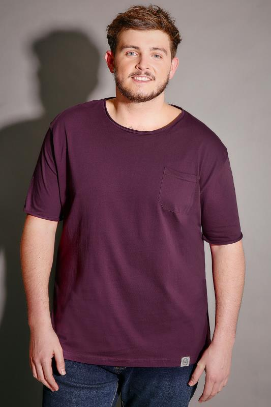 BadRhino Purple T-Shirt With Chest Pocket