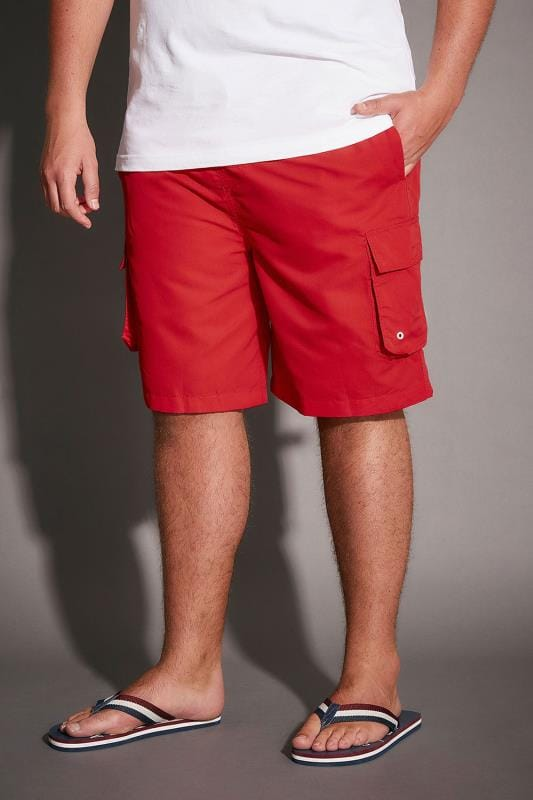 Swim Shorts BadRhino Red Cargo Swim Shorts 110404