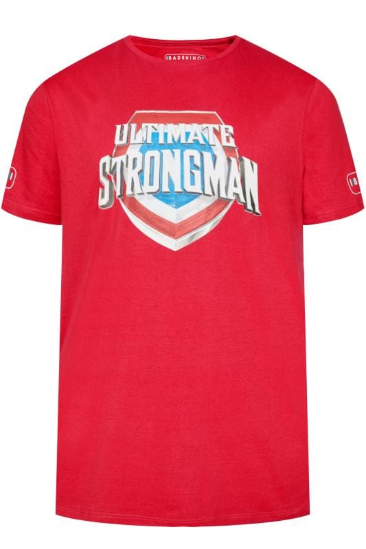 T-Shirts BadRhino Red 'Ultimate Strongman' T-Shirt 201047