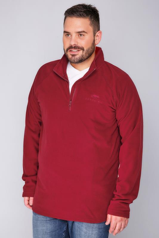 BadRhino Red Zip Neck Micro Fleece - TALL