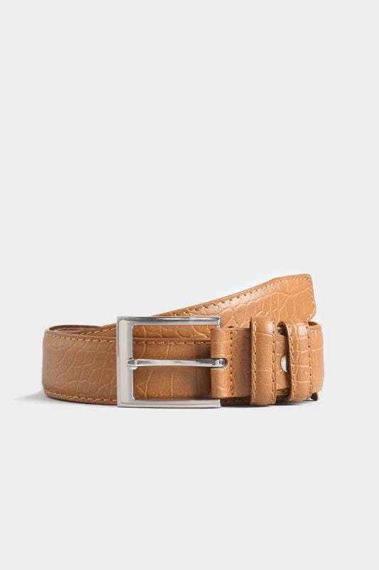 Belts BadRhino Tan Textured Bonded Leather Belt 110448