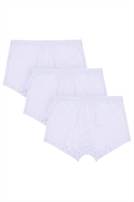3 PACK BadRhino White A Front Boxers