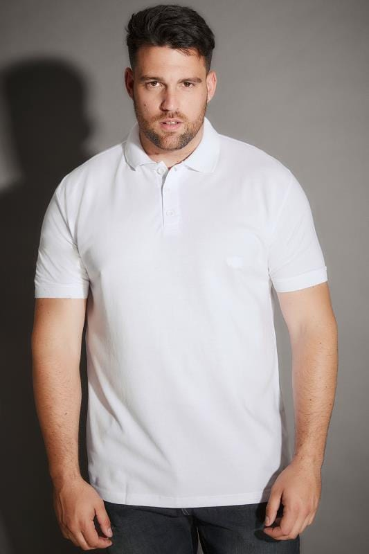 BadRhino White Basic Polo Shirt