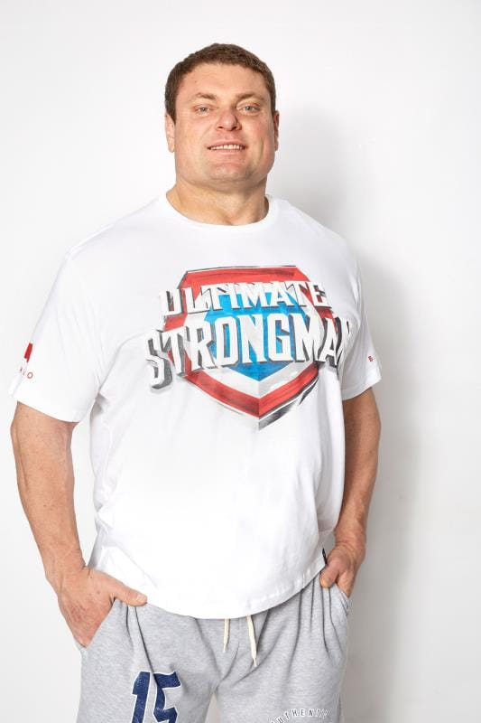 T-Shirts BadRhino White 'Ultimate Strongman' T-Shirt 200806