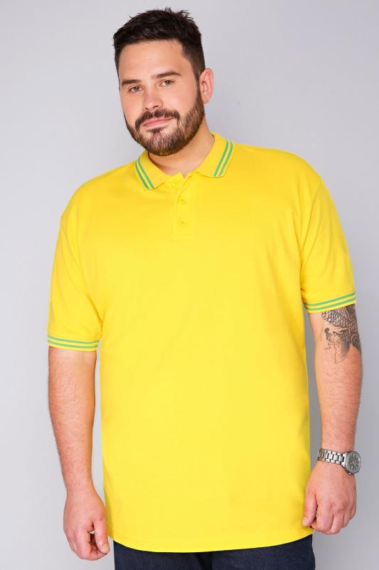 BadRhino Yellow Short Sleeved Polo Shirt - TALL