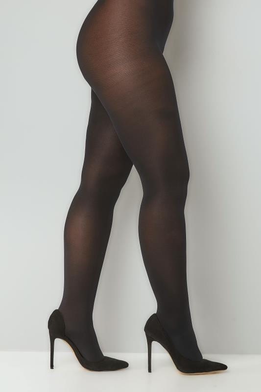 Plus Size Tights Black 100 Denier Tights