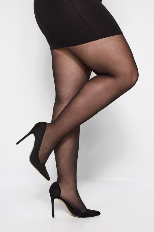 Plus Size Tights Black 20 Denier Super Stretch Tights