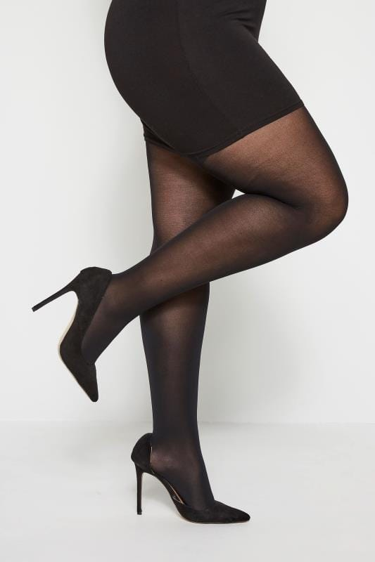 Plus Size Tights Black 40 Denier Shaping Tights