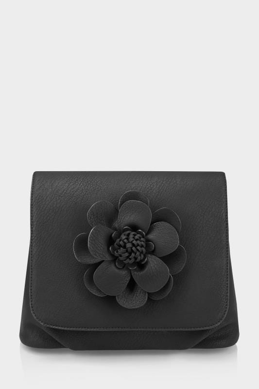 Black Flower Cross Body Bag
