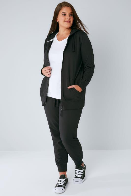 Black Basic Cotton Jersey Joggers