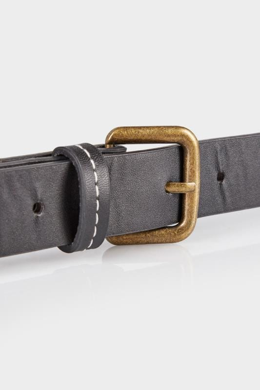 Black Belt With Contrast Stitching