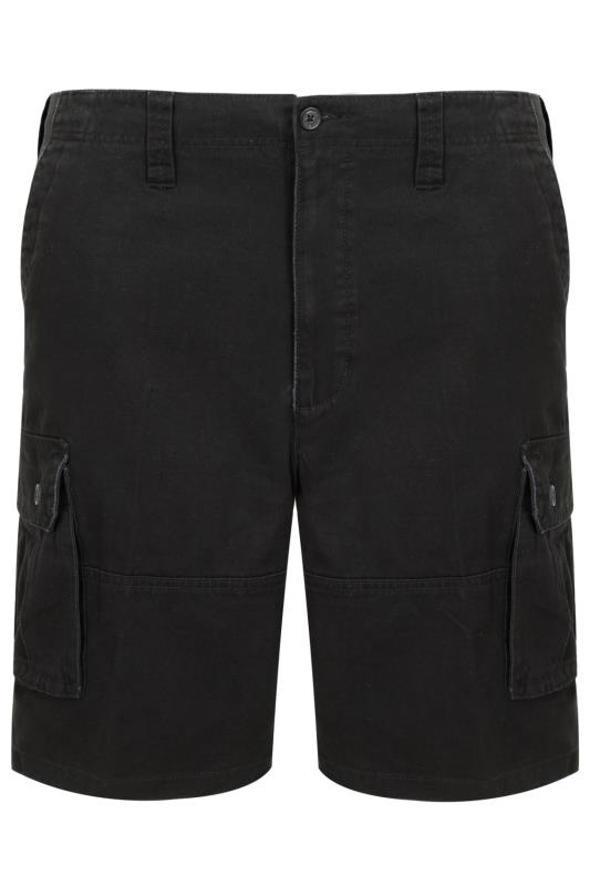 Black Cargo Shorts With 6 Pockets