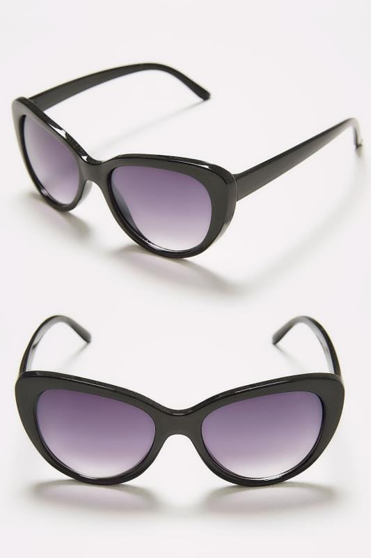 Black Cat Eye Sunglasses With UV Protection