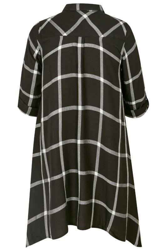 Black Check Asymmetric Shirt