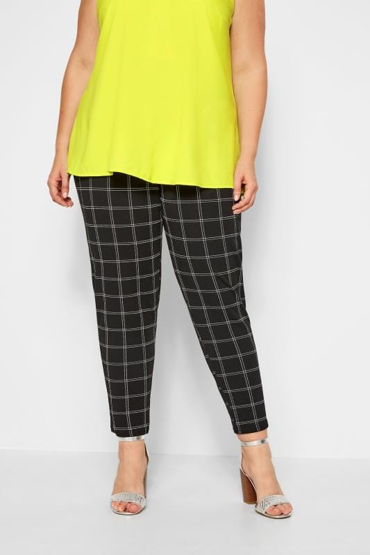 Black Check Trousers